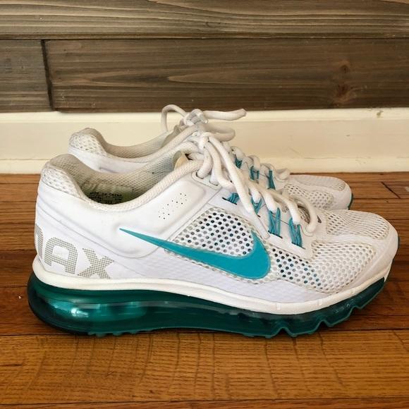 78921864bf81 Custom Tiffany Blue   White Nike Air Max. M 5aa2a1b7caab44bac572aa84